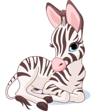 Illustrazione di un simpatico zebra puledro