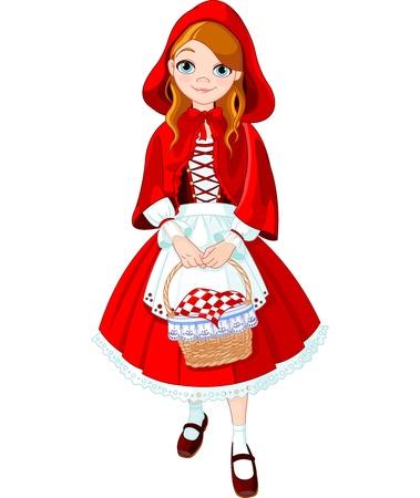 작은 빨간 승마 후드의 그림 일러스트