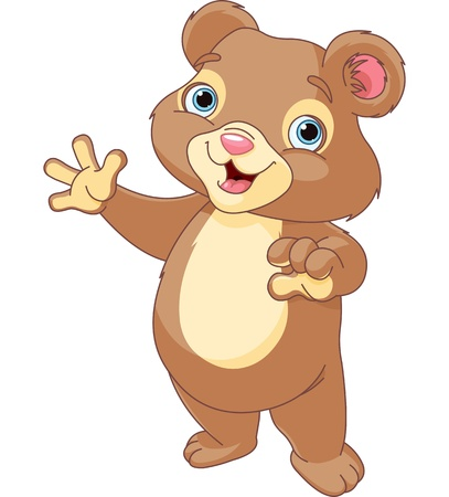 Very cute Teddy Bear presenting