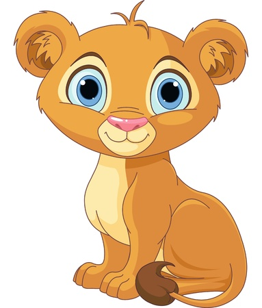 cub: A cute character lion king cub Illustration