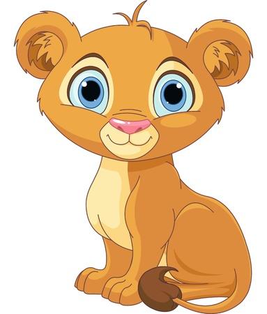 leon bebe: Un car�cter lindo rey le�n cachorro