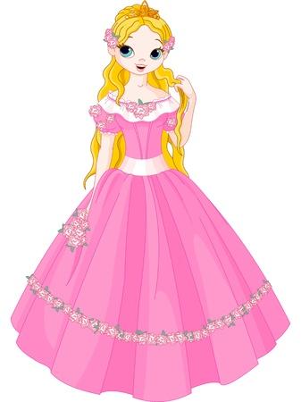 Illustratie van sprookjesprinses Stock Illustratie