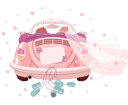 recien casados: Reci�n casados ??en el coche