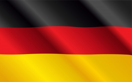 Design of German Flag Flying in the Wind