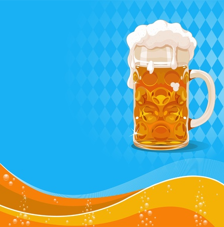 Oktoberfest beer background with place for text Vector