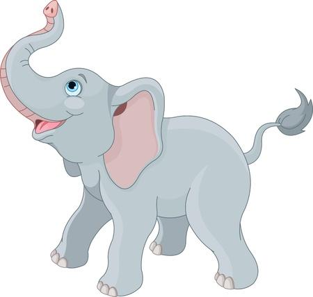 Heel schattig olifantje Stock Illustratie
