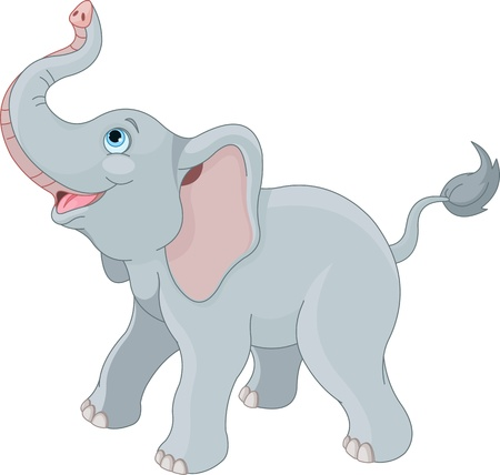 trunks: Very cute little elephant