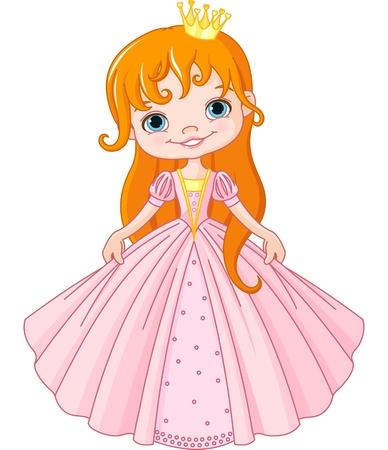 fairy story: Illustrazione di cute piccola principessa