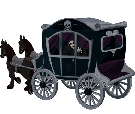 Illustration of Halloween carriage Illustration