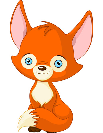 Illustration of cute baby fox