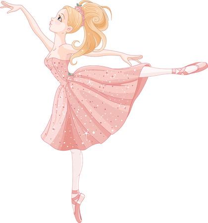 귀여운 춤 발레리나의 그림 일러스트
