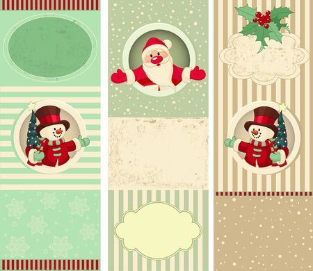 Three different Christmas banners background Vector