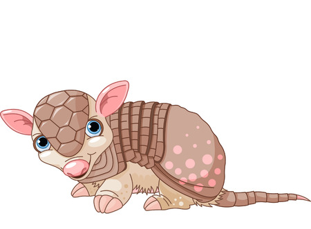 Illustration of cute cartoon armadillo Vector