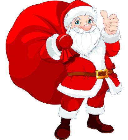 선물의 전체 가방 귀여운 산타 클로스