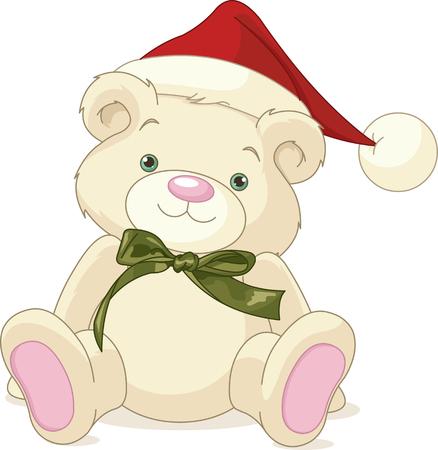 cute bear: Christmas rough, painterly child
