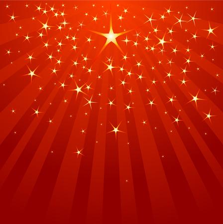 Christmas Shooting Star on starry background  Illusztráció
