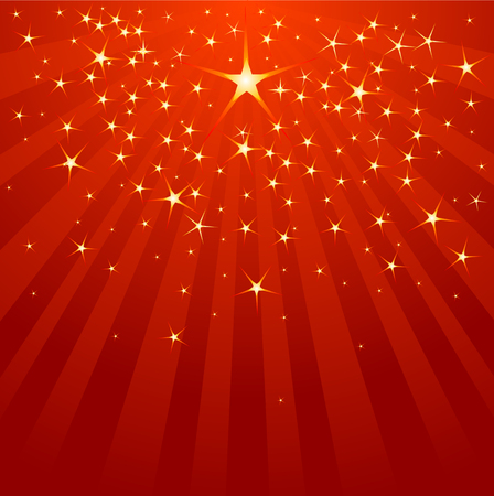 Christmas Shooting Star on starry background  Vector