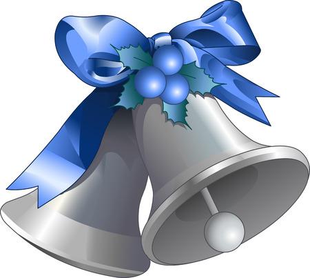 campanas navidad: Ilustraci�n de plata de las campanas de Navidad