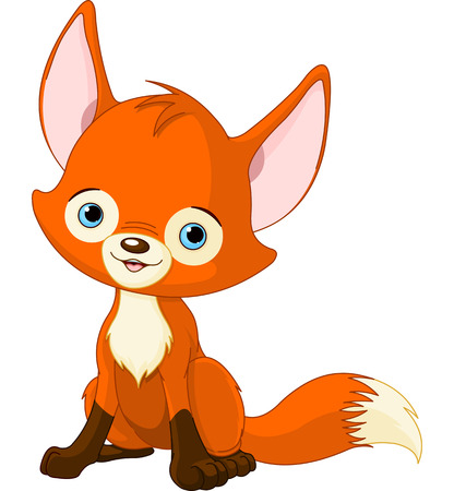 baby: Illustration of cute baby fox