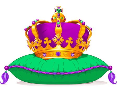 gras: Beautiful Mardi Gras crown