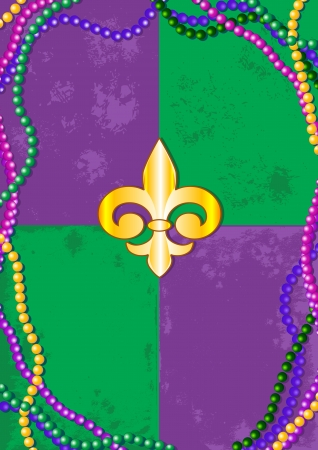 place for text: Mardi Gras design with place for text