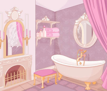 Bathroom in the palace of the princess Vector