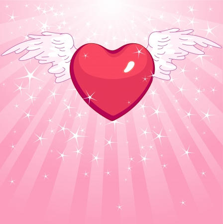 Winged heart on radial