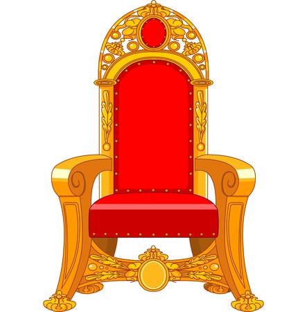 trono: Antiguo sillón antiguo en un fondo blanco Vectores