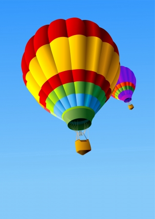 Colorful Hot Air Balloons in Flight  Vector