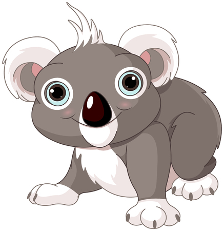 Illustration of cute funny koala Vector