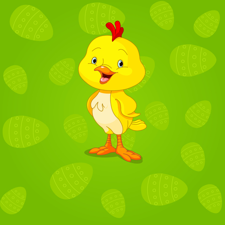easter chick:  Easter cute little chick background