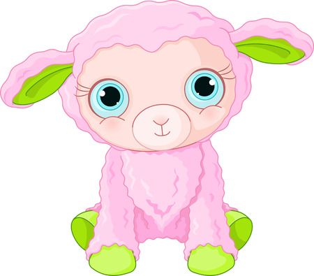 Illustration of cute lamb character Vector