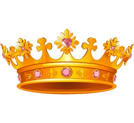 corona reina: Hermosa corona real