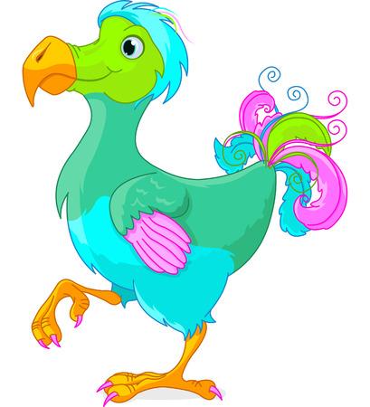Illustration of cute Dodo bird Vettoriali