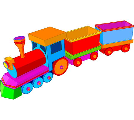 Beautiful multi colored toy train Vector