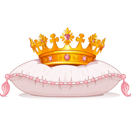 fashion story: Adorable crown on the pillow