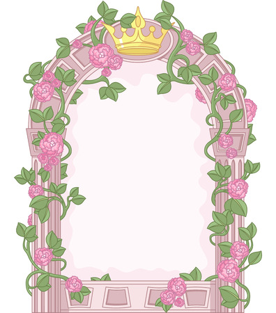 Romantic Floral Fairy Tale Frame Vector