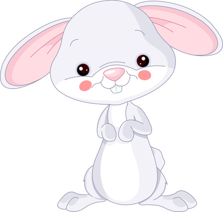 Farm animals. Illustration of cute Bunny