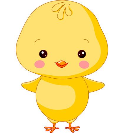 Farm animals. Illustration of cute Chick
