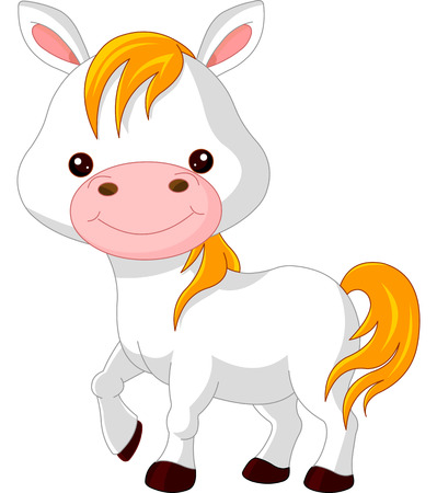cute graphic:  Farm animals. Illustration of cute Horse