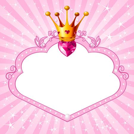 美しいプリンセス ピンク フレーム。美しい女の子のための完璧な