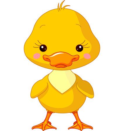 Los animales de granja. Ilustración de lindo Duck Ilustración de vector