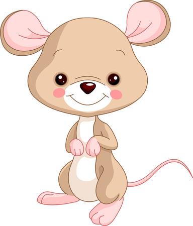 Farm animals. Illustration of cute Mice Vector