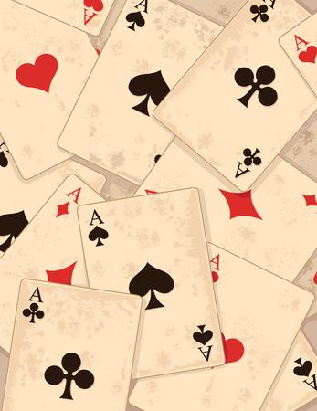 playing card symbols: Retro-Fondo con s�mbolos del naipe