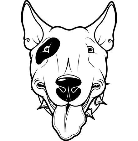 Illustration of cartoon Bull Terrier Vector