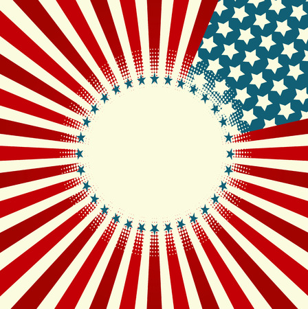 A patriotic background for Fourth of July Ilustrace