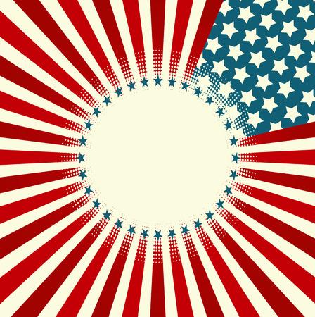 patriotic background:  A patriotic background for Fourth of July Illustration