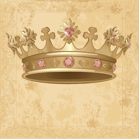 crown tail: Beautiful Royal crown background Illustration