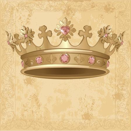 Beautiful Royal crown background Illusztráció