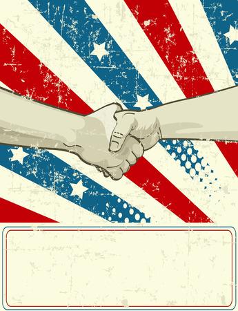 handclasp: Labor Day patriotic design with handshake